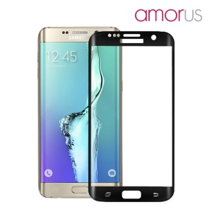 AMORUS Tempered Glass Screen Protector for Samsung Galaxy S6 Edge Plus G928 Complete Covering Corning Gorilla Glass - Black