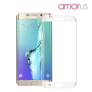 AMORUS Tempered Glass Screen Protector for Samsung Galaxy S6 edge+ G928 Complete Covering Corning Gorilla Glass - White