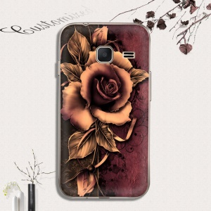 Softlyfit Patterned TPU Embossing Back Case for Samsung Galaxy J1 mini - Gothic Rose