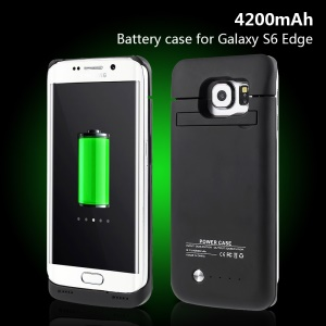 4200mAh Backup Battery Charger Case for Samsung Galaxy S6 Edge G925 - Black