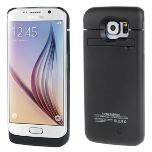 4200mAh Battery Charger Case for Samsung Galaxy S6 Edge G925 - Black