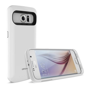 3500mAh Battery Charger Case for Samsung Galaxy S6 G920 - White