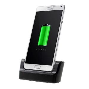 Black Desktop OTG Sync Charging Dock Cradle para Samsung Galaxy Note 4 N910