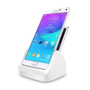 Dock Station Cradle for Samsung Galaxy Note 4 N910 with Battery Charging Port - White