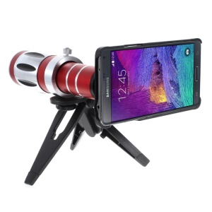For Samsung Galaxy Note 4 N910 20X Zoom Optical Telescope Lens + Mini Tripod + PC Back Case