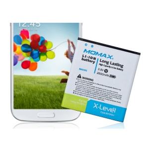 MOMAX X-Level Replacement 2600mAh Li-ion Battery for Samsung Galaxy S4 i9500