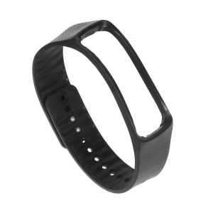 Replacement TPU Wrist Band for Samsung Galaxy Gear Fit R350 Smart Watch - Black