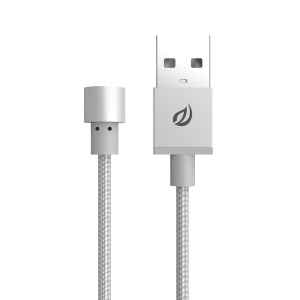 WSKEN Round Magnetic Charging Cord for Lightning/Micro USB/Type-C Devices - Silver Color