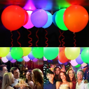 24Pcs 12Inch LED Light Up Balloons Party Decor
