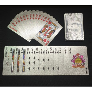 54 Carte Da Poker Creative In Plastica Per Giocare A Poker Da 100 Dollari - Color Argento