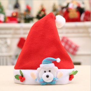 Cheer Kid Cute Cap Santa Party Snowman Christmas Decor - Bear