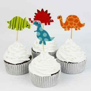 24PCS/Lot Cartoon Pattern Cupcake Topper Cake Decorations