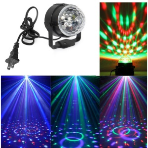 3W Upgrade Magic Ball RGB LED Colorful Lighting with Controller for Stage Dj Bar Disco Home Party - EU Plug