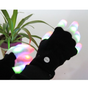 Clignotant Enfants colorés LED Finger Light Gloves Amazing Colorful Flashing Nouveauté Toys for Kids