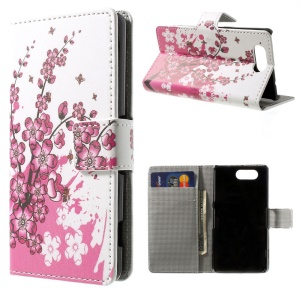 Plum Blossom Wallet Leather Stand Cover for Sony Xperia Z3 Compact D5803 M55w