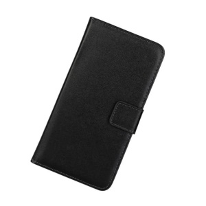 Split Genuine Leather Wallet Stand Case for Sony Xperia Z3 D6603 D6643 - Black