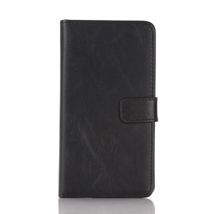 For Sony Xperia E3 D2203 D2206 / E3 Dual SIM Retro Style Leather Wallet Case w/ Stand - Black