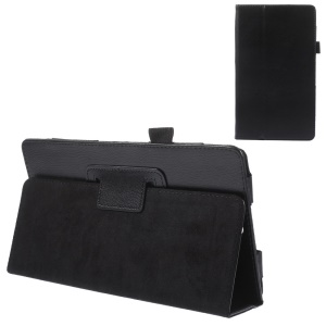 Litchi Skin Leather Stand Case for Sony Xperia Z3 Tablet Compact SGP611 SGP612 SGP621 SGP641 - Black