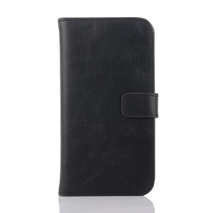 Retro Style PU Leather Wallet Case for Sony Xperia E4 with Stand - Black
