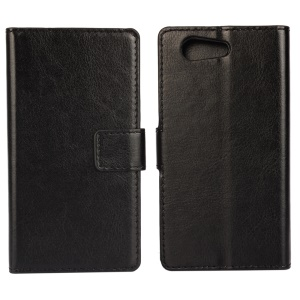 Crazy Horse Grain Leather Phone Cover for Sony Xperia Z4 Compact - Black