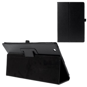 Lychee Grain Leather Stand Cover for Sony Xperia Z4 Tablet - Black