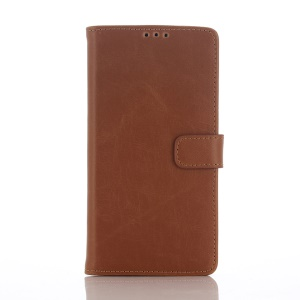 Retro Style Magnetic Flip Leather Cover Stand for Sony Xperia Z5 - Brown