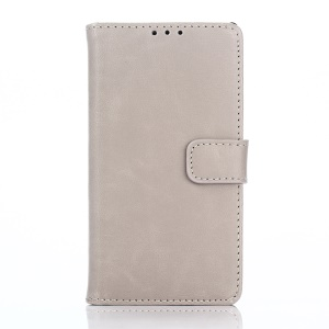 Retro Crazy Horse Wallet Leather Stand Phone Case for Sony Xperia Z5 Compact - Grey