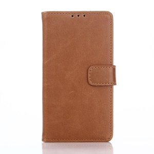 Retro Crazy Horse Magnetic Wallet Leather Stand Protective Case for Sony Xperia Z5 Compact - Brown