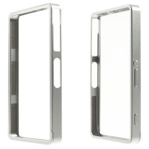Sliding Metal Bumper for Sony Xperia Z3 Compact D5803 M55w - Silver
