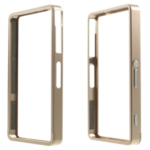 Sliding Metal Backless Bumper for Sony Xperia Z3 Compact D5803 M55w - Champagne