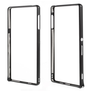For Sony Xperia Z3+/Z3+ Dual Aluminum Alloy Bumper Case with Curved Edges - Black
