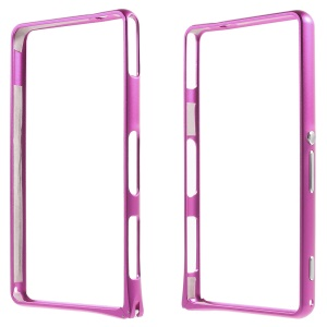 For Sony Xperia Z1 Compact D5503 Metal Bumper Rim Hippocampal Buckle - Rose