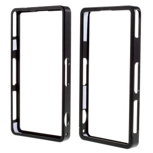 Straight Edge Push-Pull Style Metal Bumper Frame for Sony Xperia Z1 Compact D5503 - Black