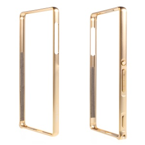 LOVE MEI for Sony Xperia Z3+ / Z3+ Dual Metal Bumper Case Hippocampal Buckle - Gold