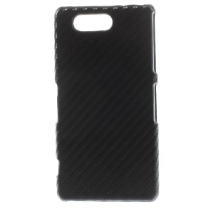 Carbon Fiber Leather Coated Hard Case Accessory for Sony Xperia Z3 Compact D5803 M55w - Black