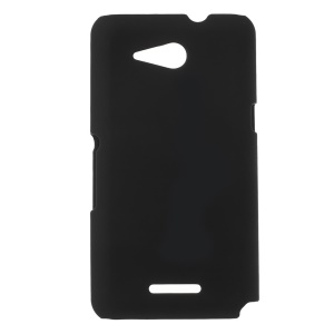 Rubberized Hard Case for Sony Xperia E4g / Dual - Black