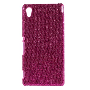Glittery Sequins Coated Hard Cover Case for Sony Xperia M4 Aqua / M4 Aqua Dual - Rose