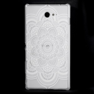 Patterned Transparent Plastic Case for Sony Xperia M2 D2303 D2306 / M2 Dual D2302 - Stylish Mandala Flower