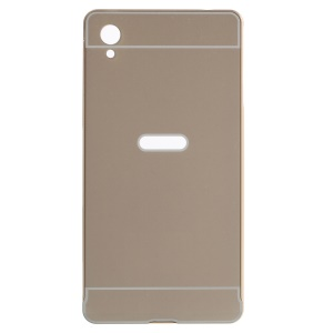 Metal Bumper PC Back Shell for Sony Xperia M4 Aqua / Aqua Dual - Gold