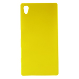 Rubberized Hard PC Case Shell for Sony Xperia Z5 - Yellow