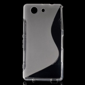 Streamline S-curved TPU Shell for Sony Xperia Z3 Compact D5803 M55w - Transparent