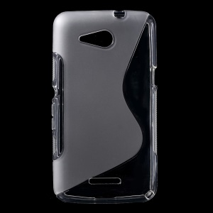S Shape TPU Shell for Sony Xperia E4g / Dual - Transparent
