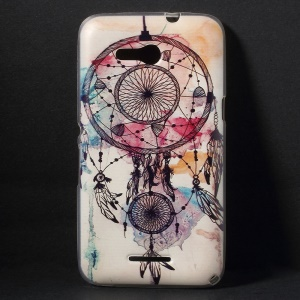 Color Printing Flexible TPU Case for Sony Xperia E4g E2006 / Dual E2033 - Feather Wind-bell
