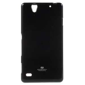 MERCURY GOOSPERY TPU Case for Sony Xperia C4 E5303 / C4 Dual E5333 Glitter Powder - Black