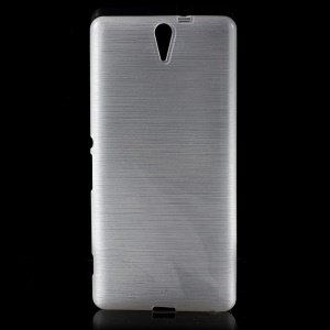White Glossy Outer Brushed Inner TPU Case for Sony Xperia C5 Ultra E5553 / Ultra Dual E5533