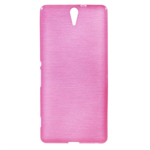 Rose Glossy Outer Brushed Inner Gel Cover for Sony Xperia C5 Ultra E5553 / Ultra Dual E5533