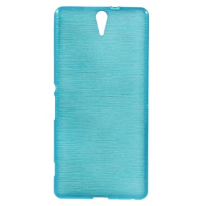 Blue Glossy Outer Brushed Inner TPU Shell for Sony Xperia C5 Ultra E5506 / Ultra Dual E5563