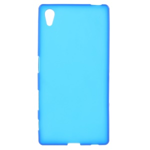 Frosted TPU Gel Phone Case for Sony Xperia Z5 / Z5 Dual - Blue
