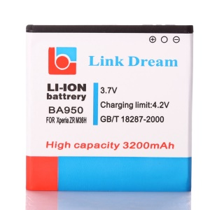 LINK DREAM 3200mAh BA950 Li-ion Battery for Sony Xperia ZR M36h C5503 C5502