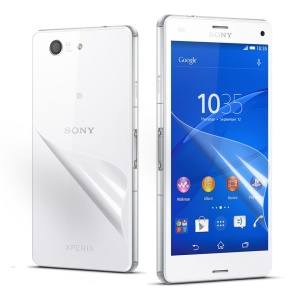 Front and Back HD Clear Protective Film for Sony Xperia Z3 Compact D5803 M55w